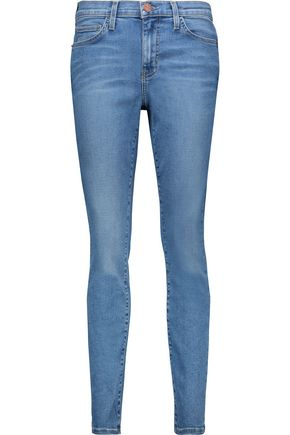 CURRENT/ELLIOTT The Ankle high-rise skinny jeans