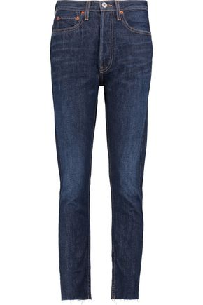 RE/DONE High-rise cropped slim-leg jeans
