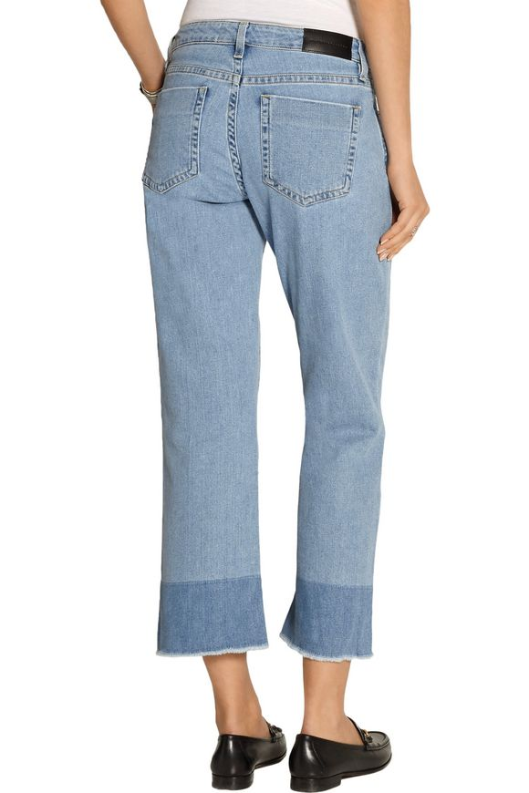 Cropped mid-rise flared jeans | VICTORIA, VICTORIA BECKHAM | Sale up to 70%  off | THE OUTNET