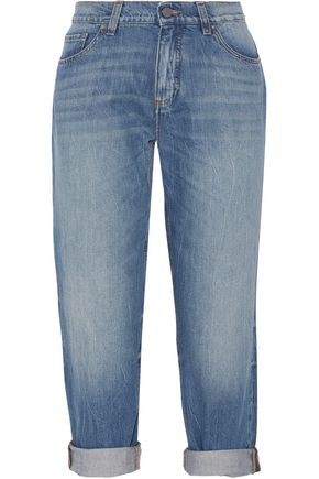VICTORIA, VICTORIA BECKHAM Neat cropped low-rise boyfriend jeans