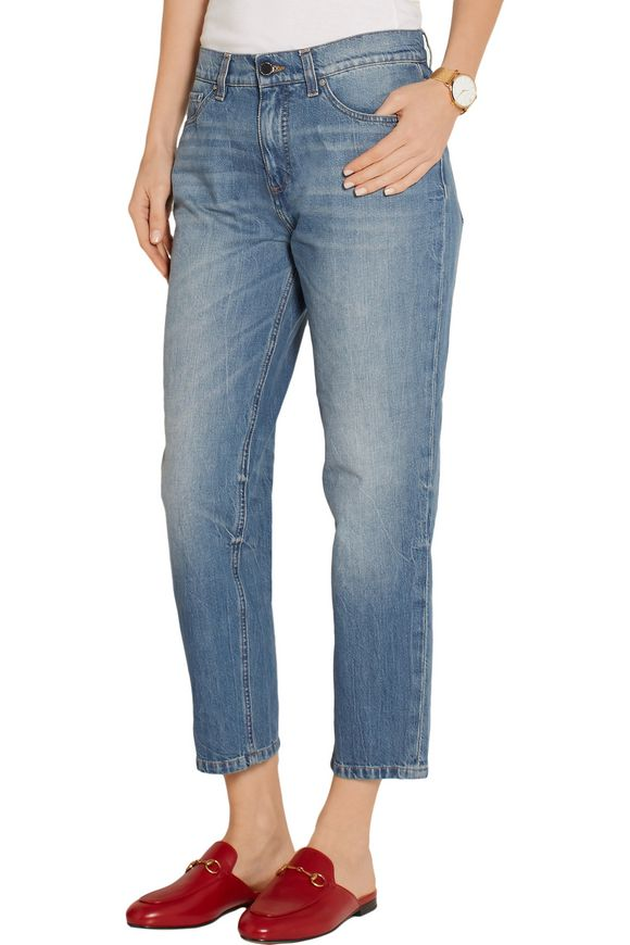 Neat cropped low-rise boyfriend jeans | VICTORIA, VICTORIA BECKHAM | Sale up  to 70% off | THE OUTNET