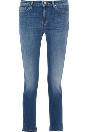 IRO Mid-rise faded straight-leg jeans