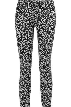 R13 Mid-rise leopard-print skinny jeans