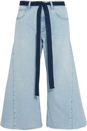 SONIA RYKIEL Belted cropped wide-leg jeans