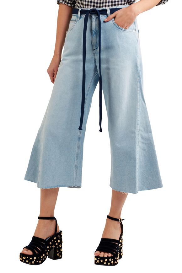 Belted cropped wide-leg jeans | SONIA RYKIEL | Sale up to 70% off | THE  OUTNET