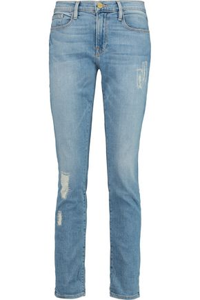 BY FRAME Le Garcon distressed boyfriend jeans