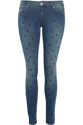 EACH X OTHER Polka-dot mid-rise skinny jeans