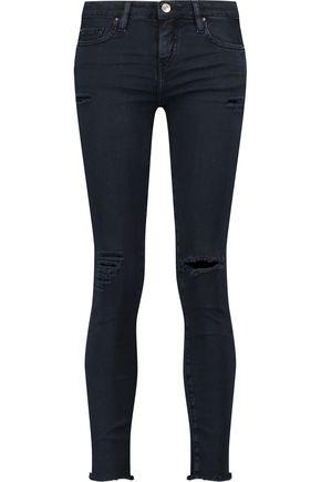 IRO Ajusté distressed mid-rise skinny-leg jeans