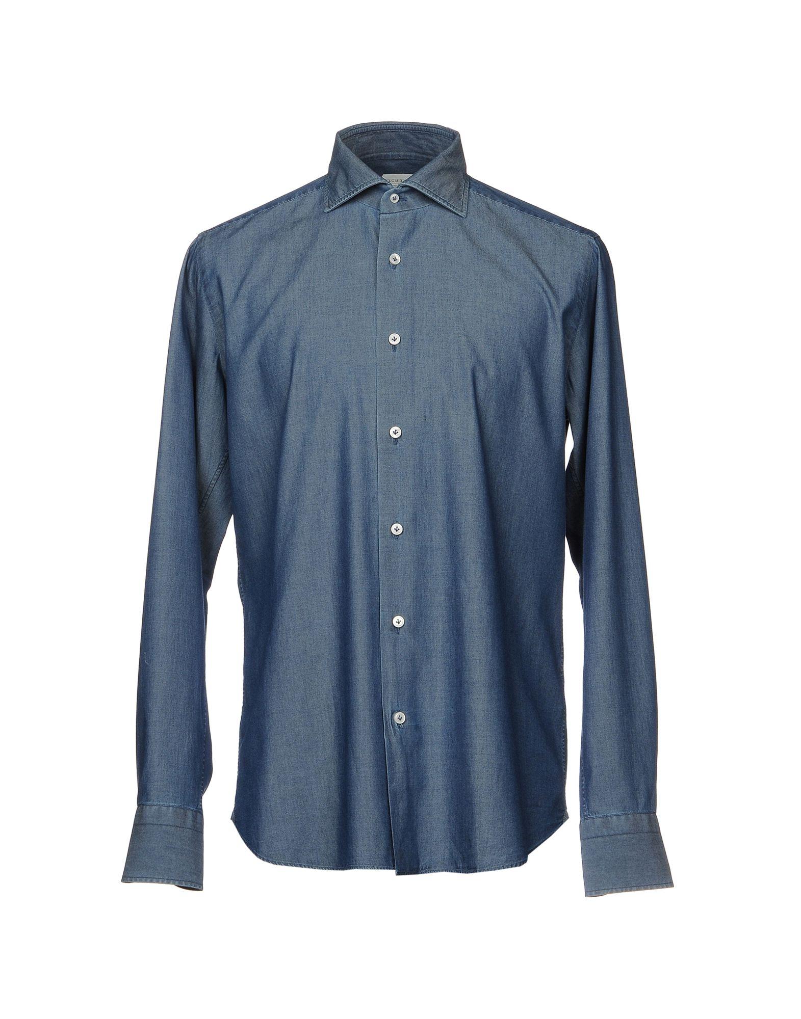 где купить GUGLIELMINOTTI Джинсовая рубашка по лучшей цене