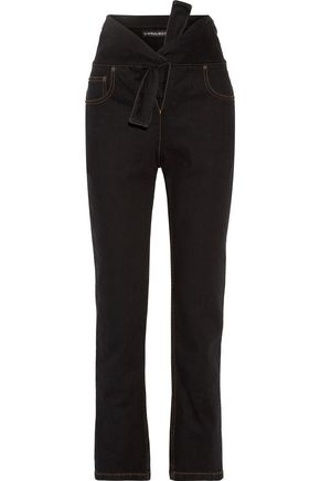 Y PROJECT Tie-front high-rise straight-leg jeans