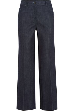 CALVIN KLEIN COLLECTION Cropped high-rise flared jeans