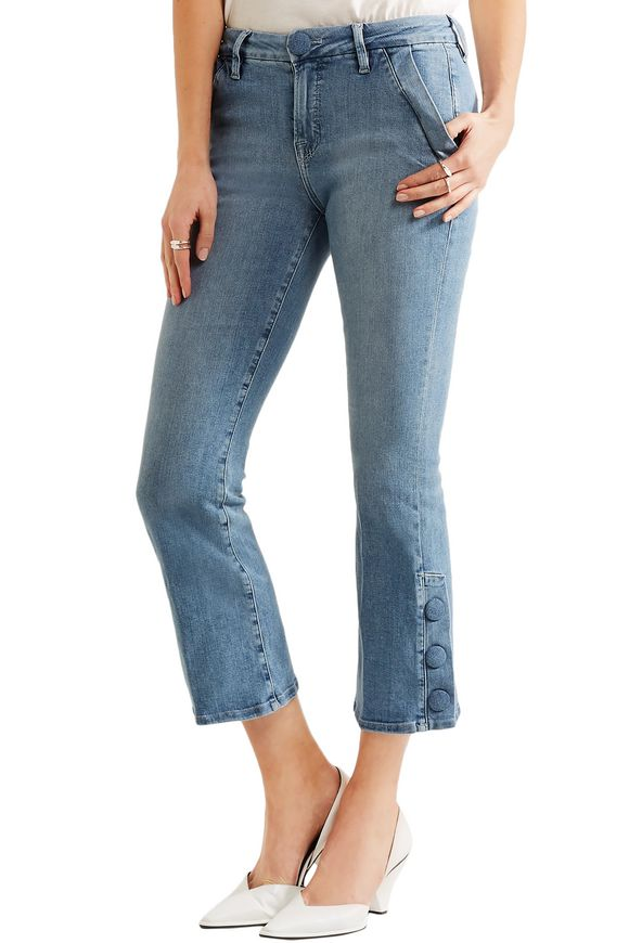 Le Crop Mini mid-rise bootcut jeans | FRAME | Sale up to 70% off | THE  OUTNET