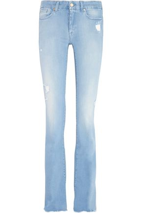 7 FOR ALL MANKIND Jiselle distressed mid-rise flared jeans