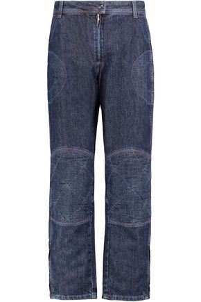 J.W.ANDERSON Cropped paneled mid-rise straight-leg jeans
