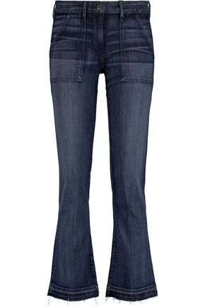 3x1 Mid-rise faded bootcut jeans