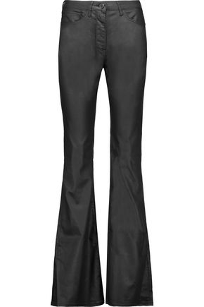 3x1 Mid-rise coated flared jeans
