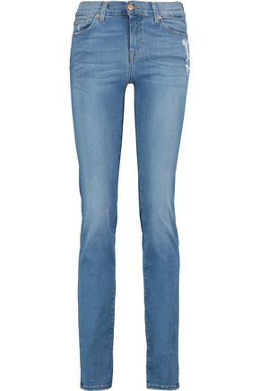 7 FOR ALL MANKIND Roxanne mid-rise slim-leg pants