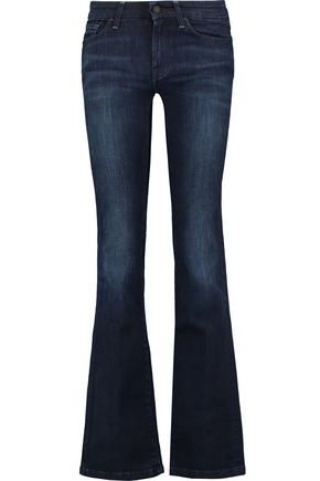 7 FOR ALL MANKIND Kimmie crystal-embellished mid-rise bootcut jeans