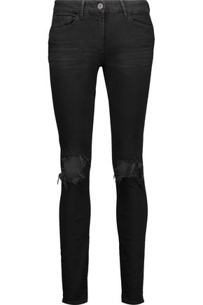 3x1 W2 distressed high-rise skinny jeans