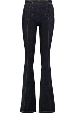 REDValentino Mid-rise flared jeans