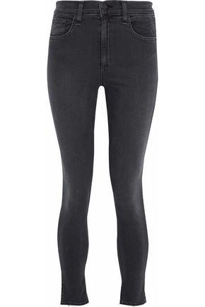 RAG & BONE Frayed mid-rise skinny jeans