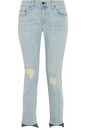 RAG & BONE Distressed boyfriend jeans