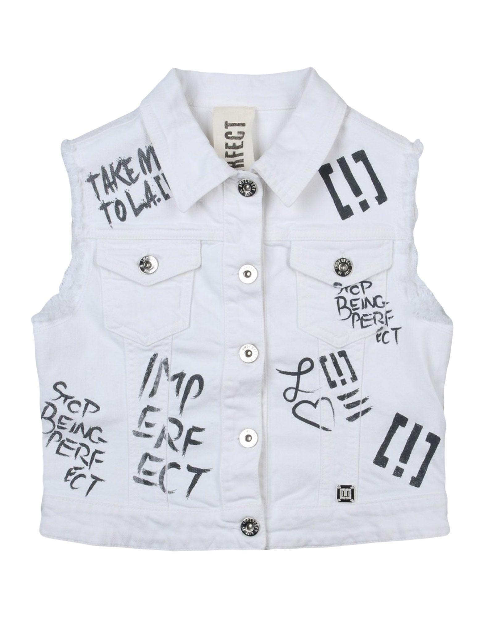 !M?ERFECT Mädchen 9-16 jahre Jeansjacke -mantel2 weiß
