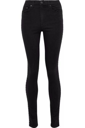 RAG & BONE Studded mid-rise skinny jeans