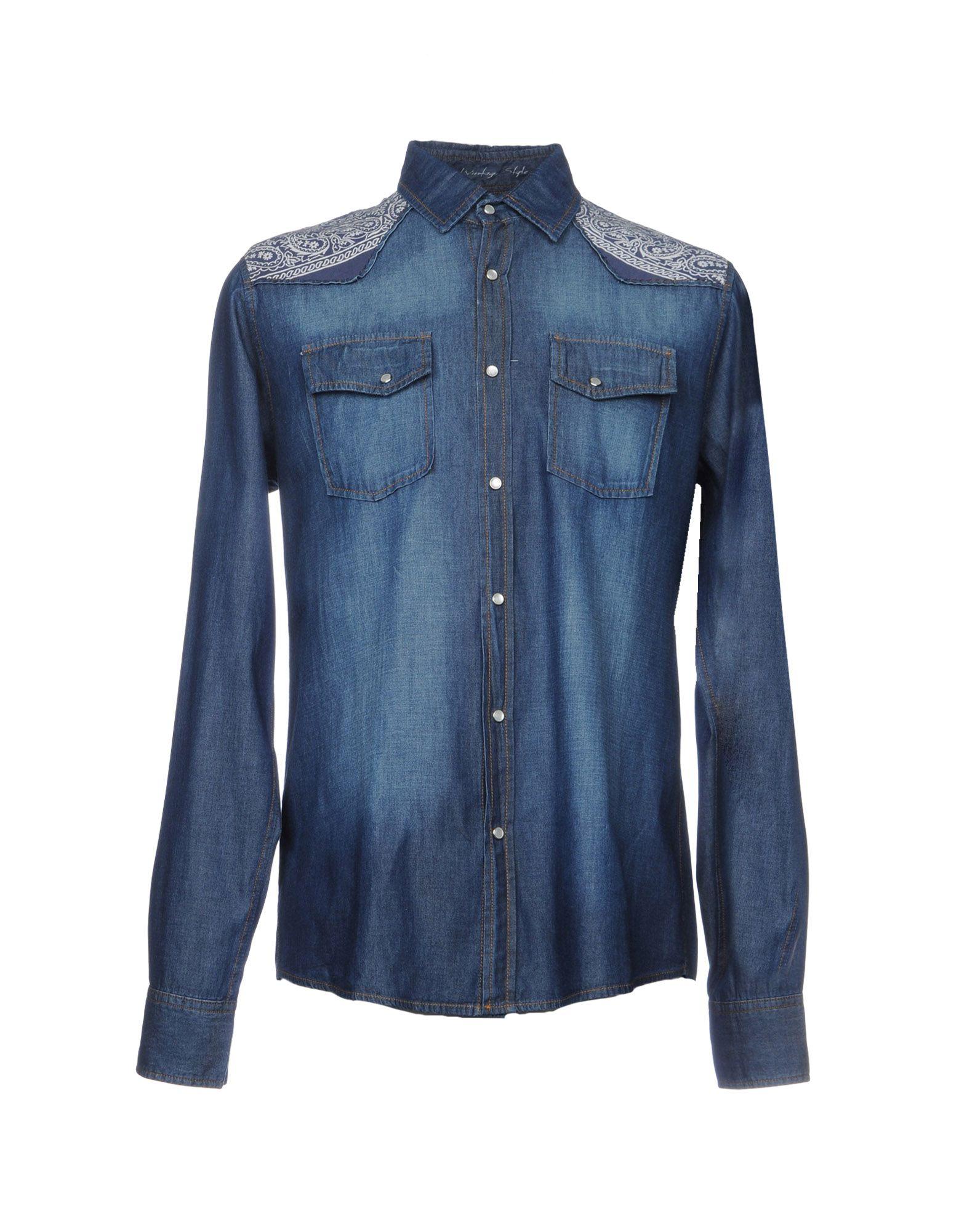 где купить ORIGINAL VINTAGE STYLE Джинсовая рубашка по лучшей цене