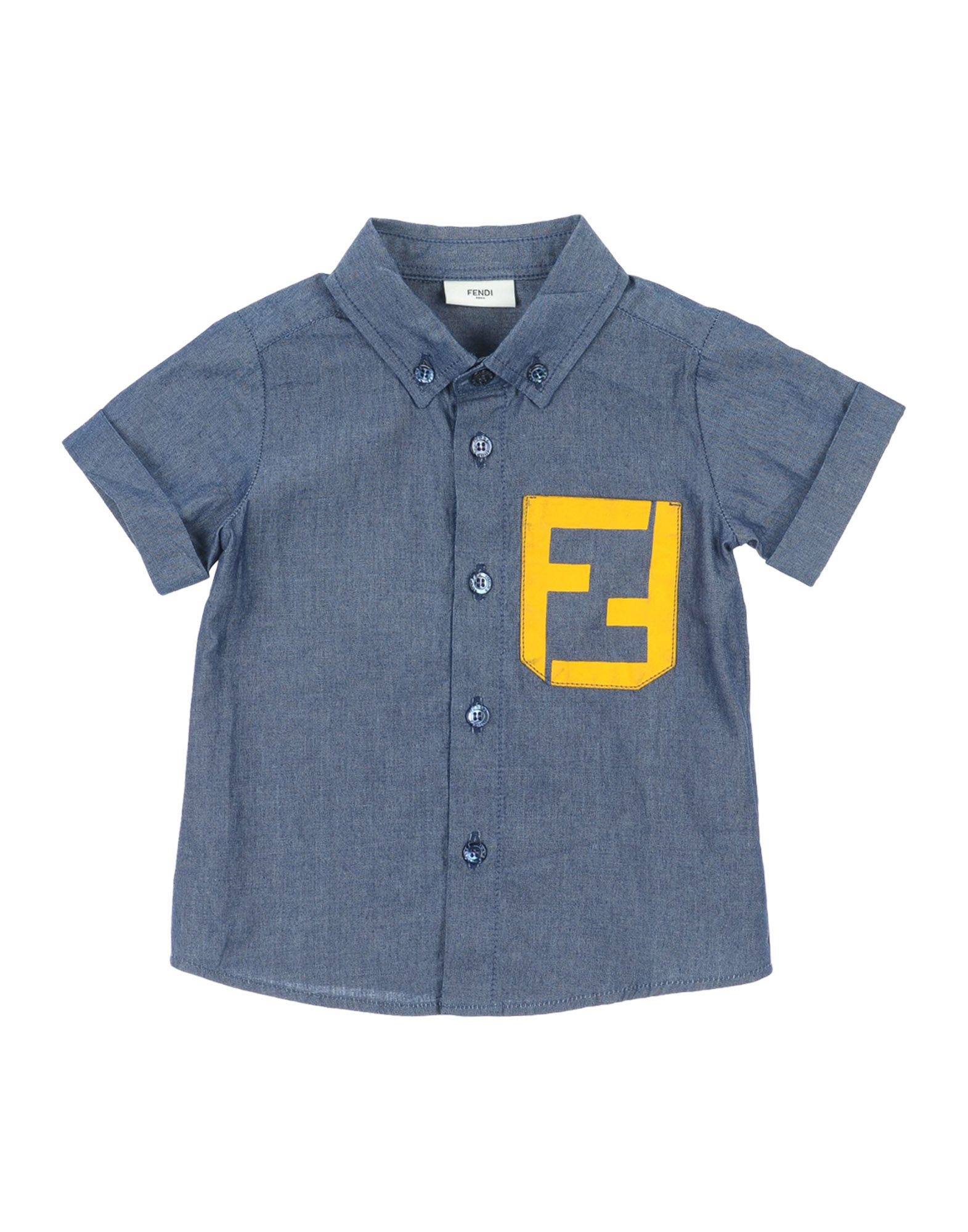 FENDI Jungen 0-24 monate Jeanshemd Farbe Blau Größe 4