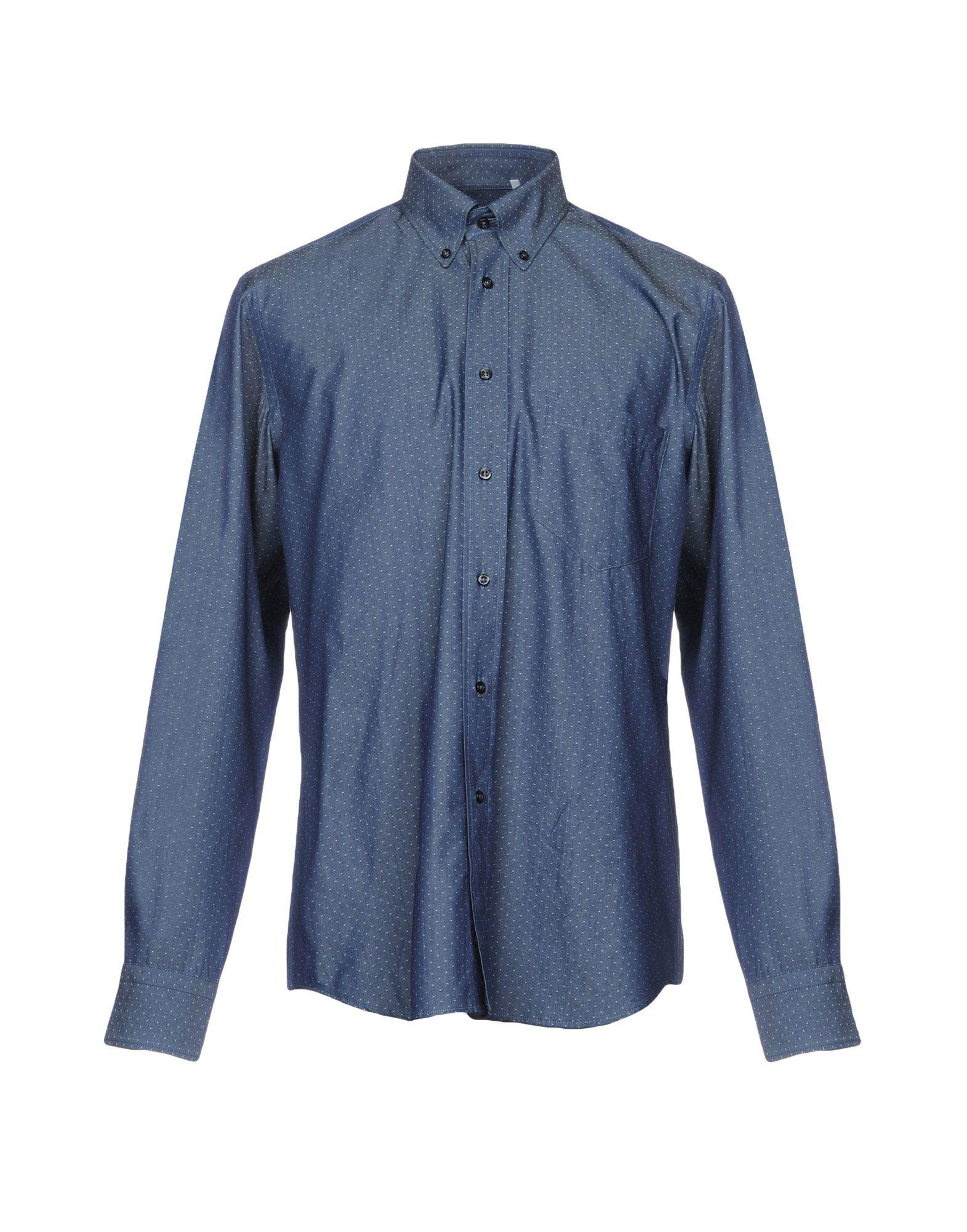 ZANETTI Джинсовая рубашка рубашка в мелкий горошек