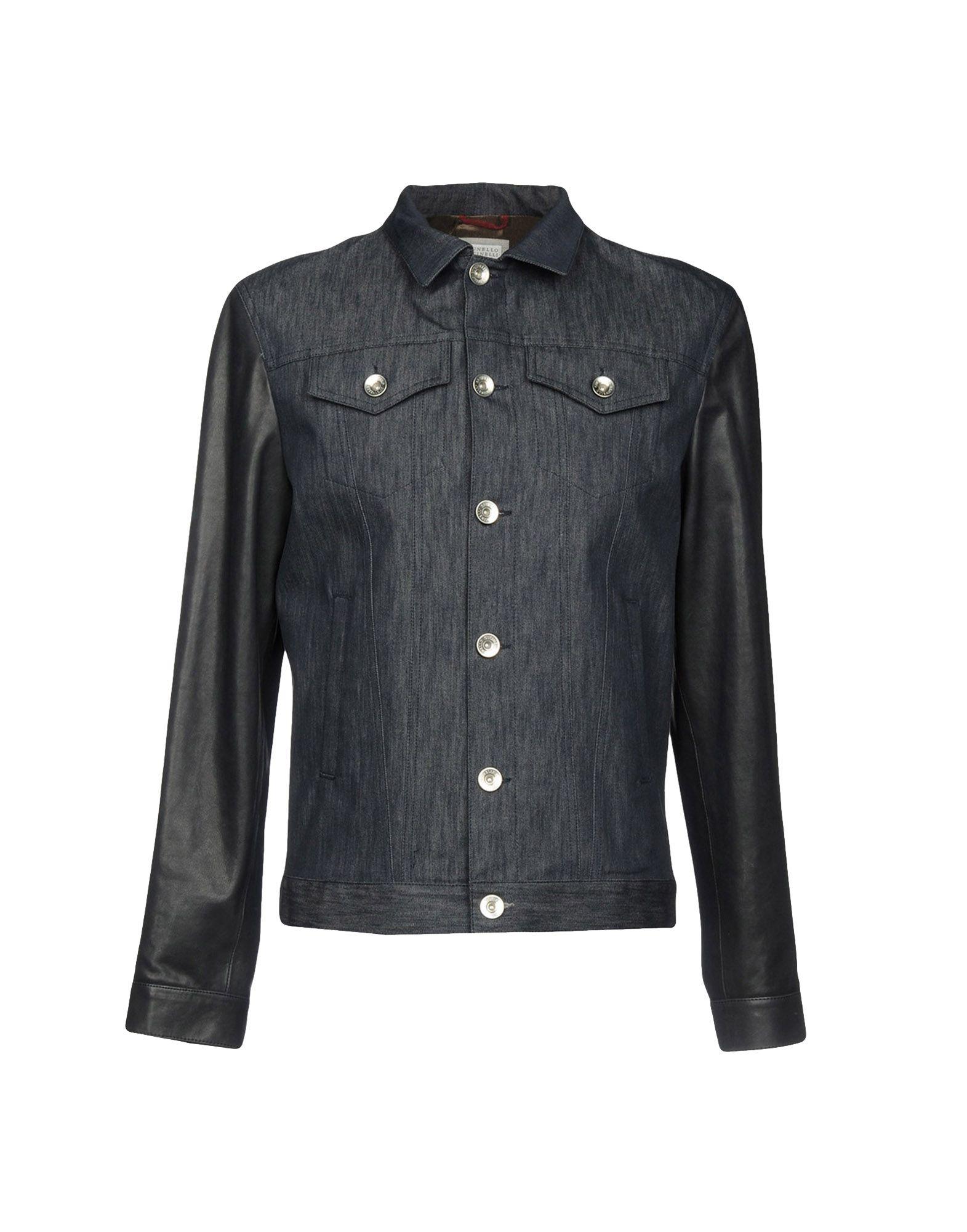 цена BRUNELLO CUCINELLI Джинсовая верхняя одежда онлайн в 2017 году