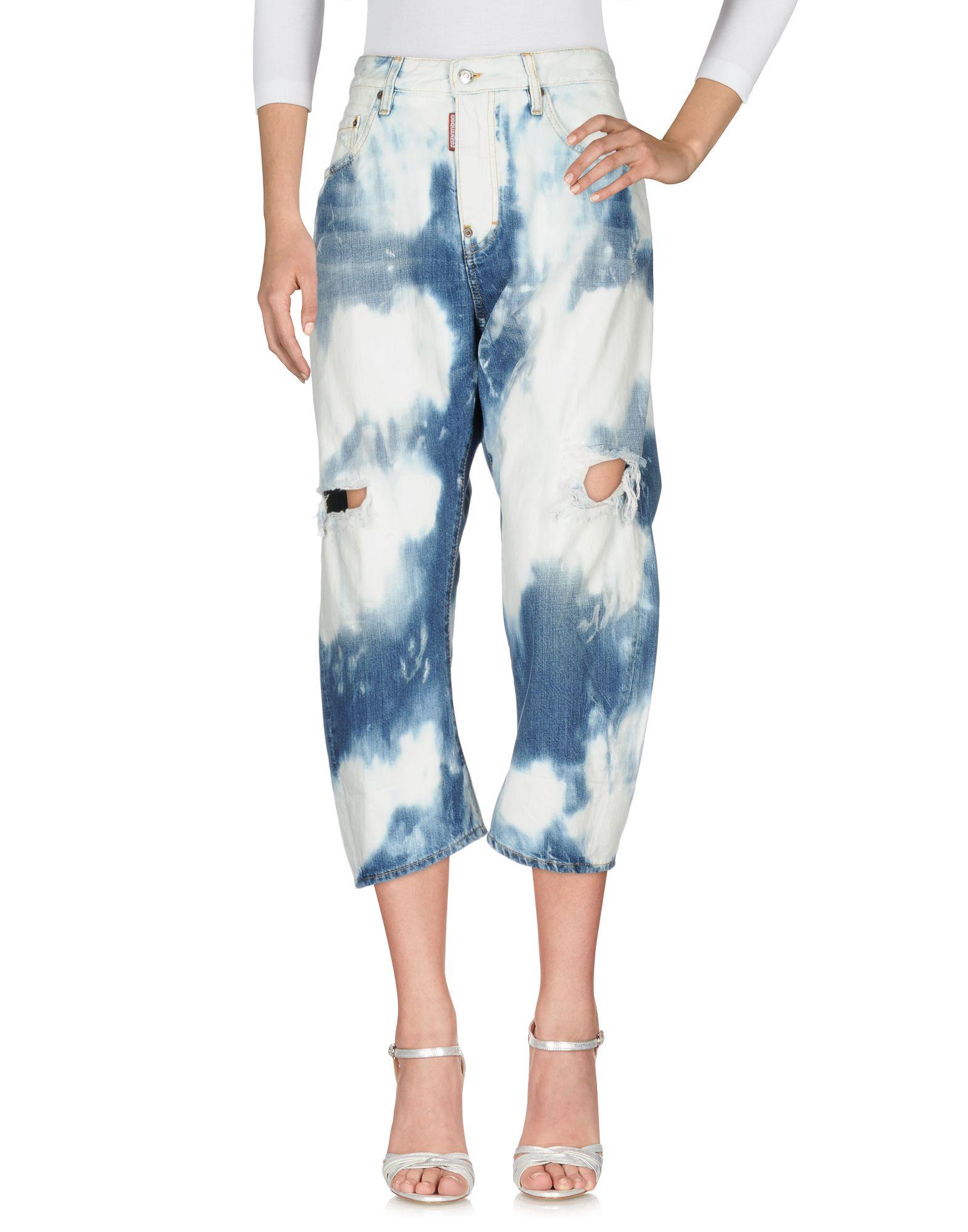 DSQUARED2 Джинсовые брюки женские брюки лэйт светлый размер 56