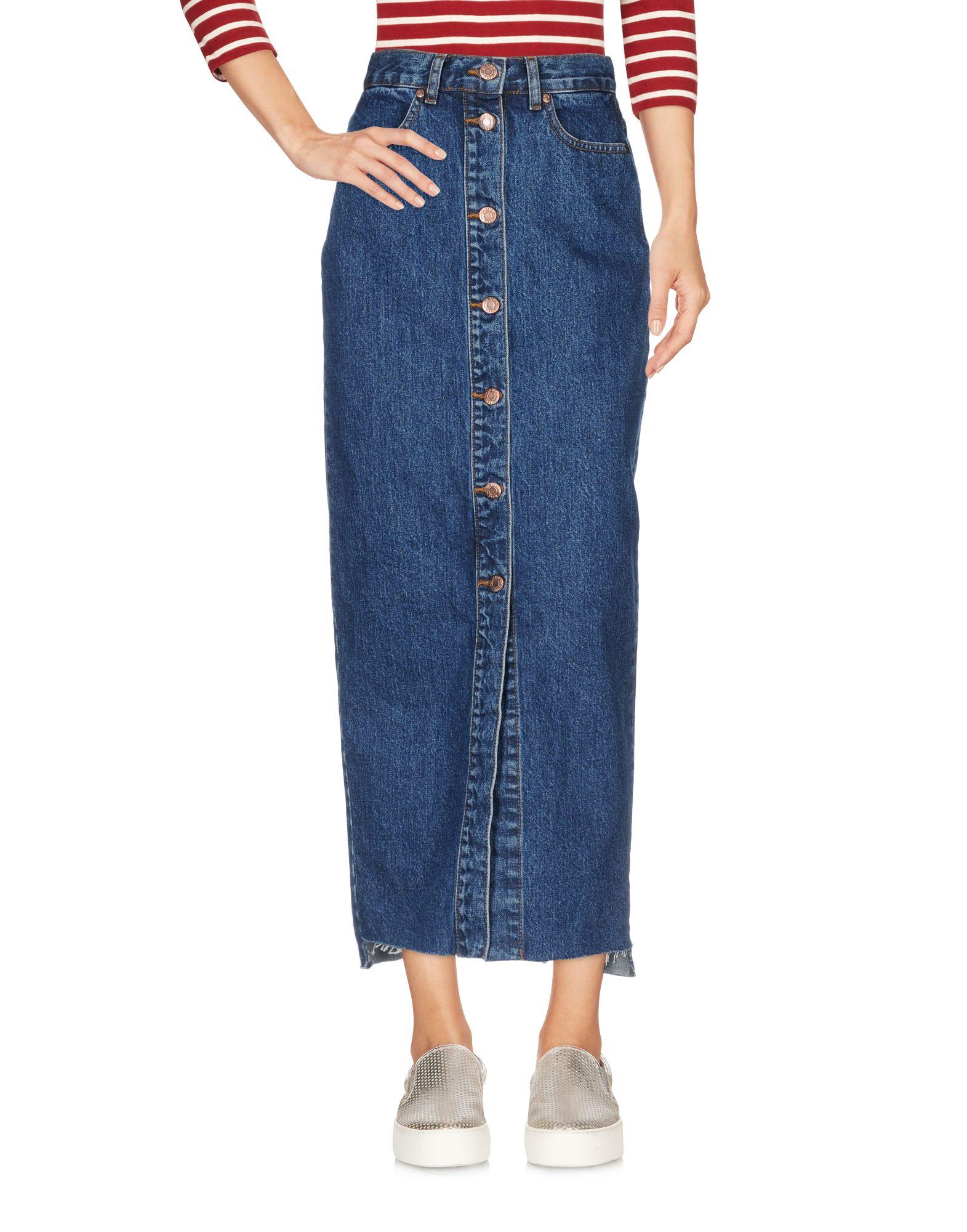 цена DR. DENIM JEANSMAKERS Джинсовая юбка онлайн в 2017 году