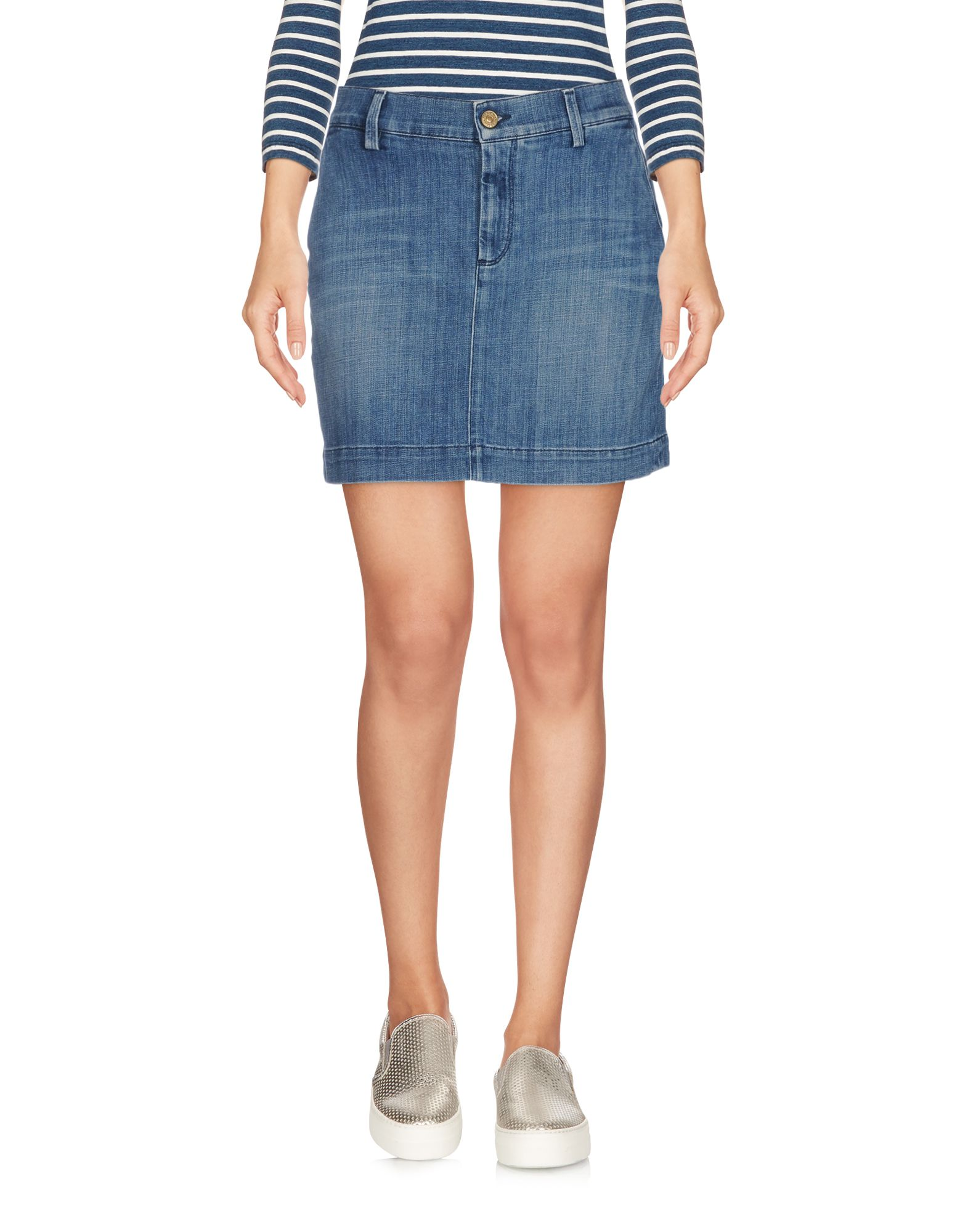 7 FOR ALL MANKIND Джинсовая юбка 7 for all mankind джинсовая верхняя одежда