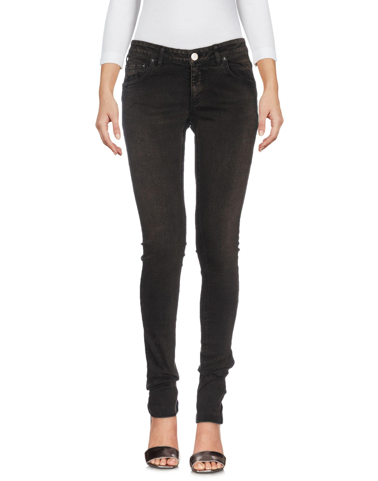 FAGASSENT Denim Pants in Dark Brown