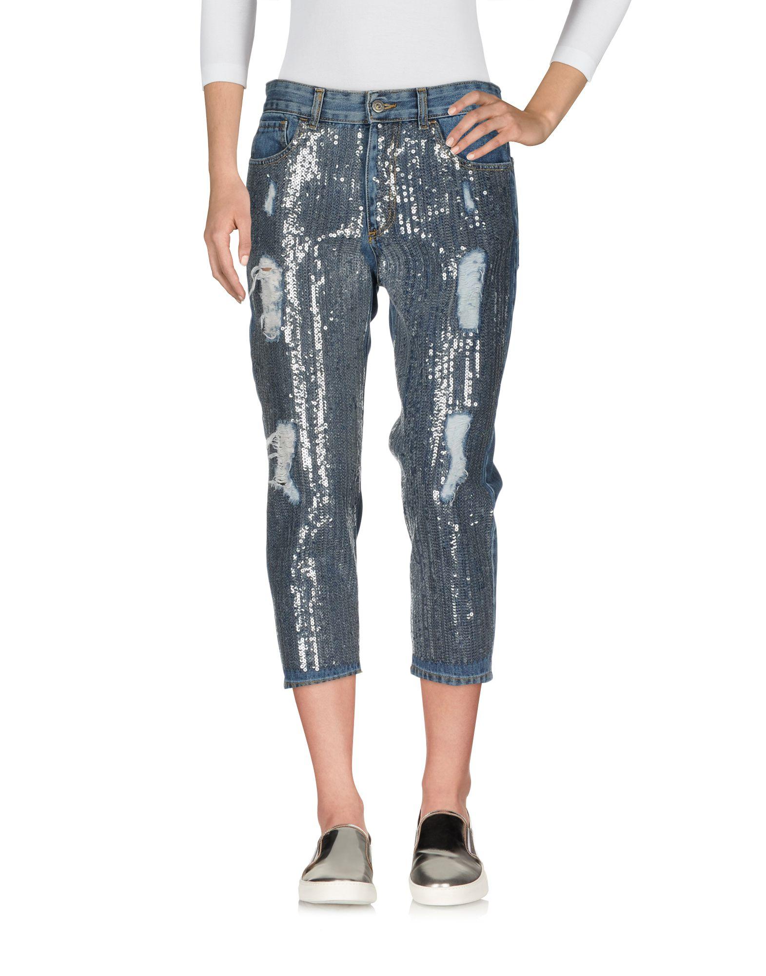цены на SOUVENIR Джинсовые брюки-капри в интернет-магазинах