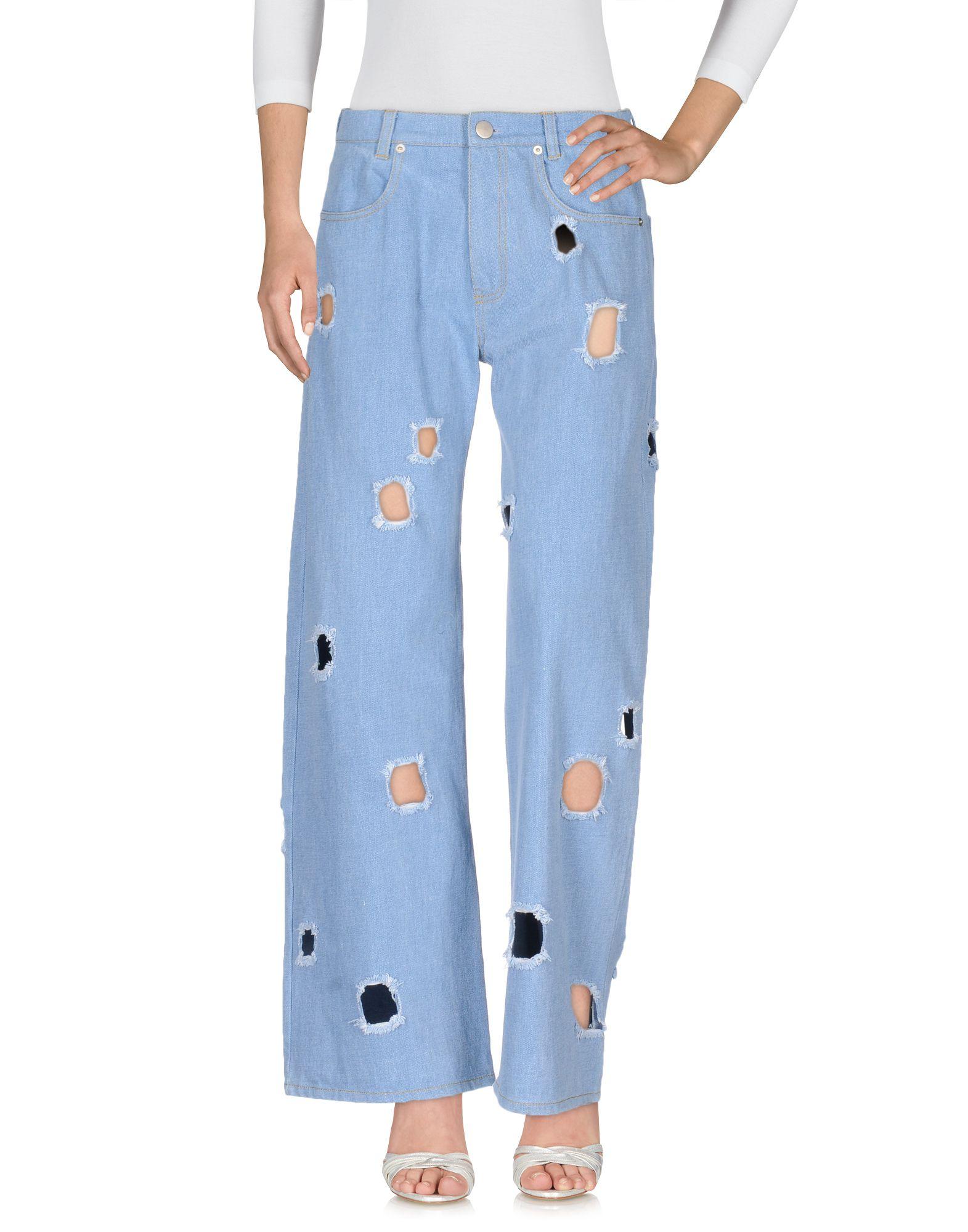 REJINA PYO Джинсовые брюки женские брюки лэйт светлый размер 56