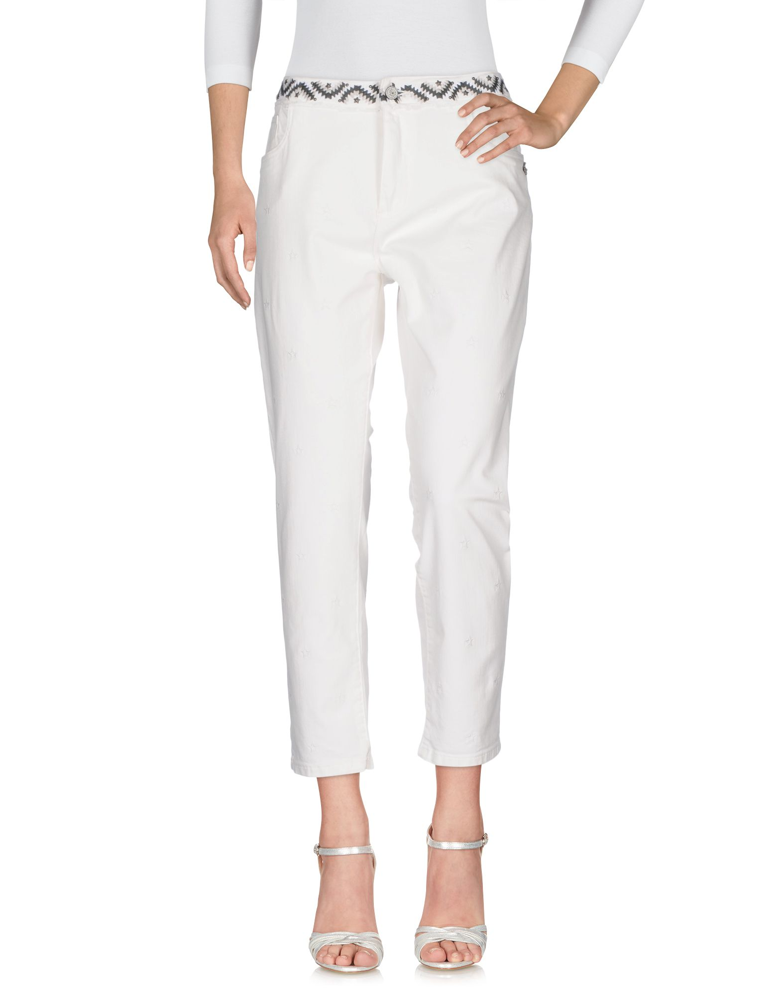 MAISON SCOTCH Denim Pants in White
