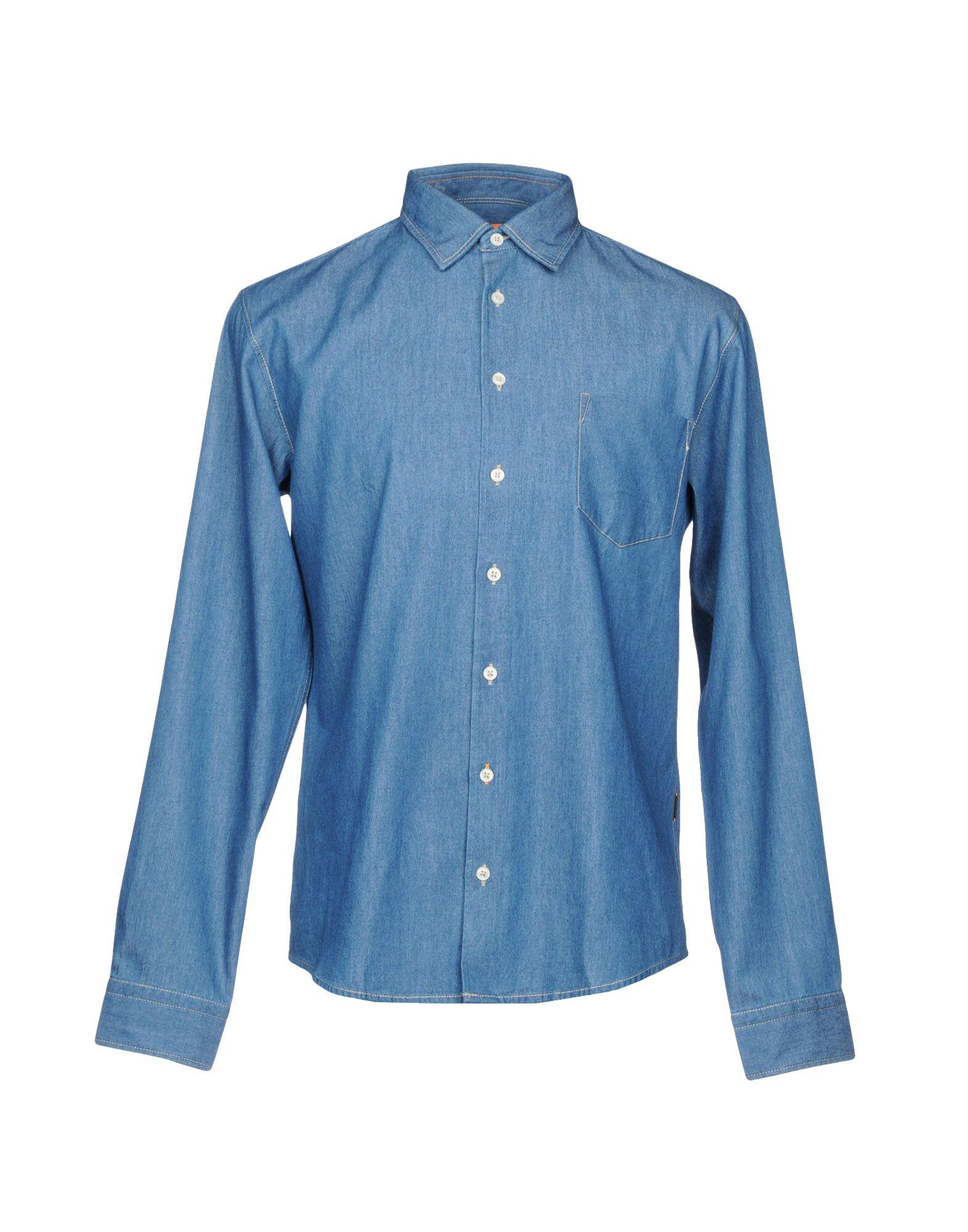BOSS ORANGE Джинсовая рубашка очки солнцезащитные boss orange boss orange bo456dwycl39
