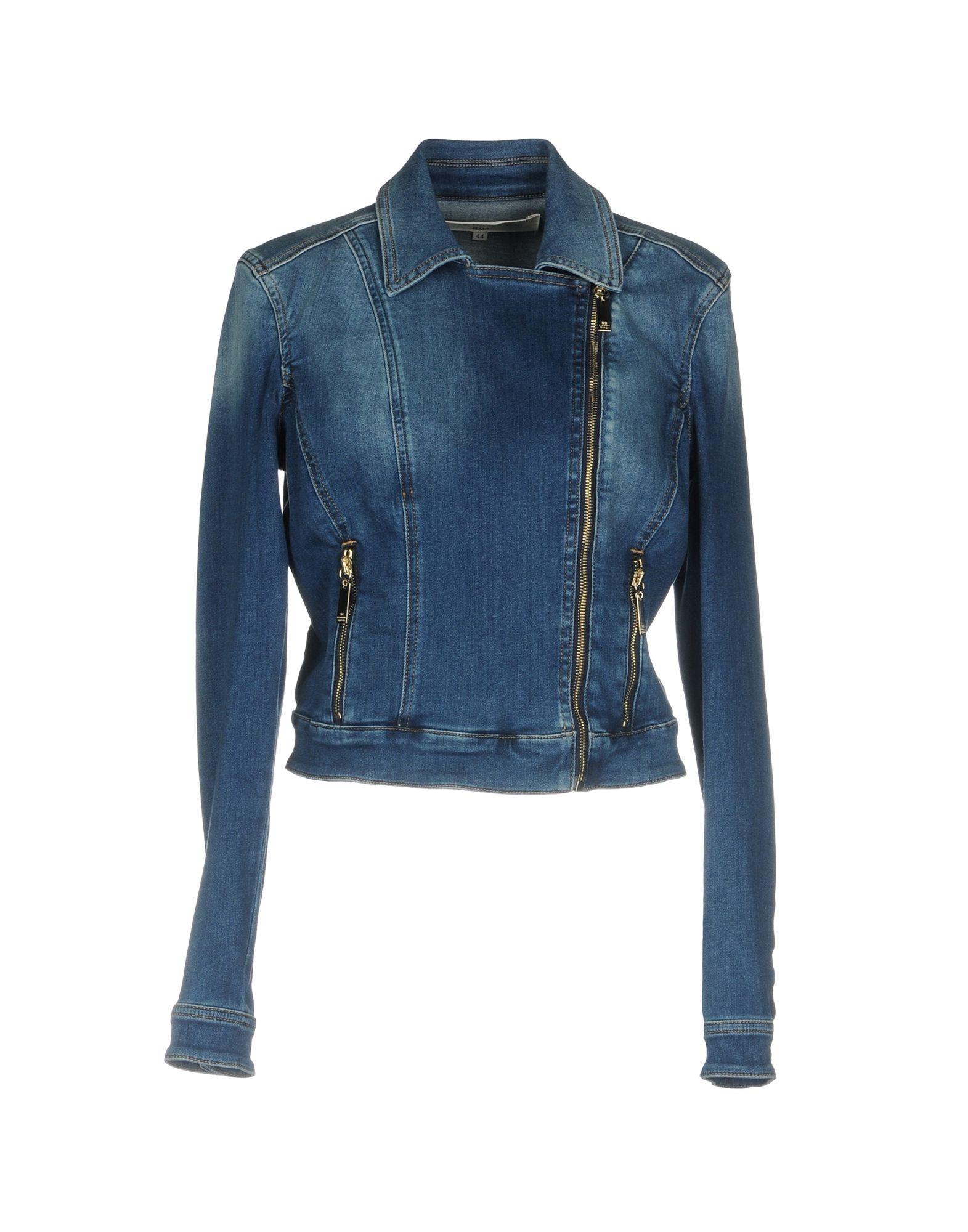 ELISABETTA FRANCHI JEANS Джинсовая верхняя одежда elisabetta franchi jeans футболка