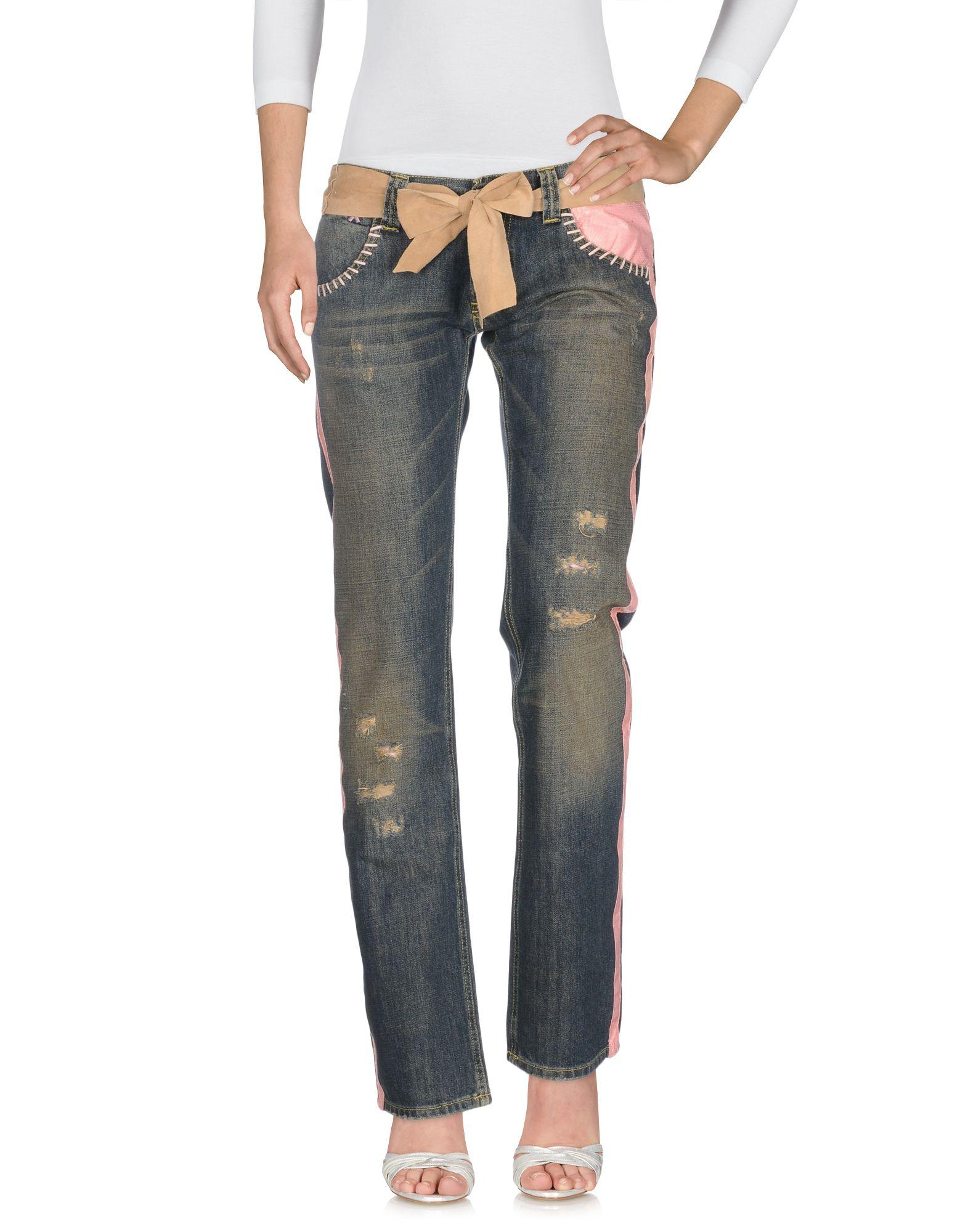 MONICA BIANCO Damen Jeanshose Farbe Blau Größe 7