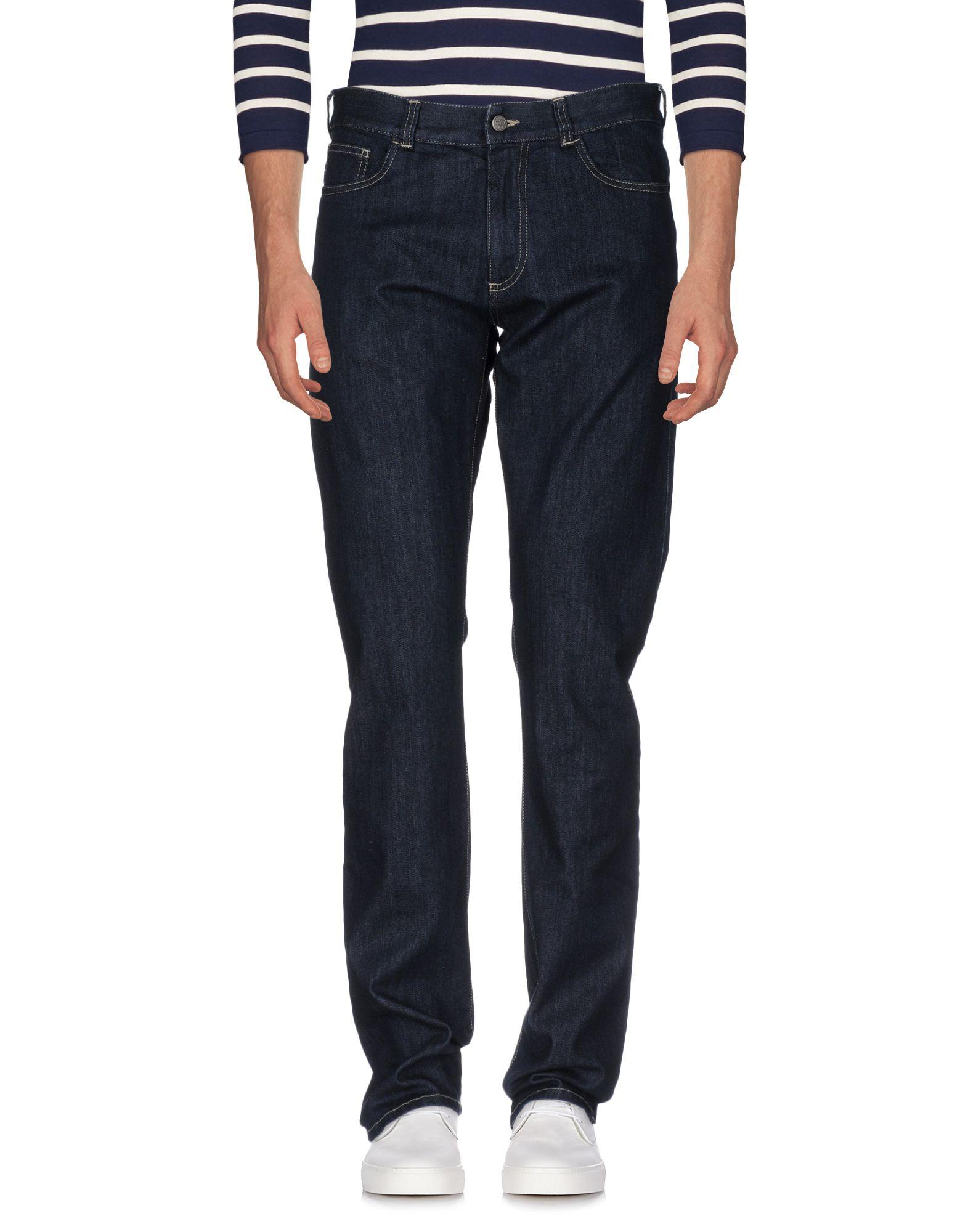 цена CANALI Джинсовые брюки онлайн в 2017 году