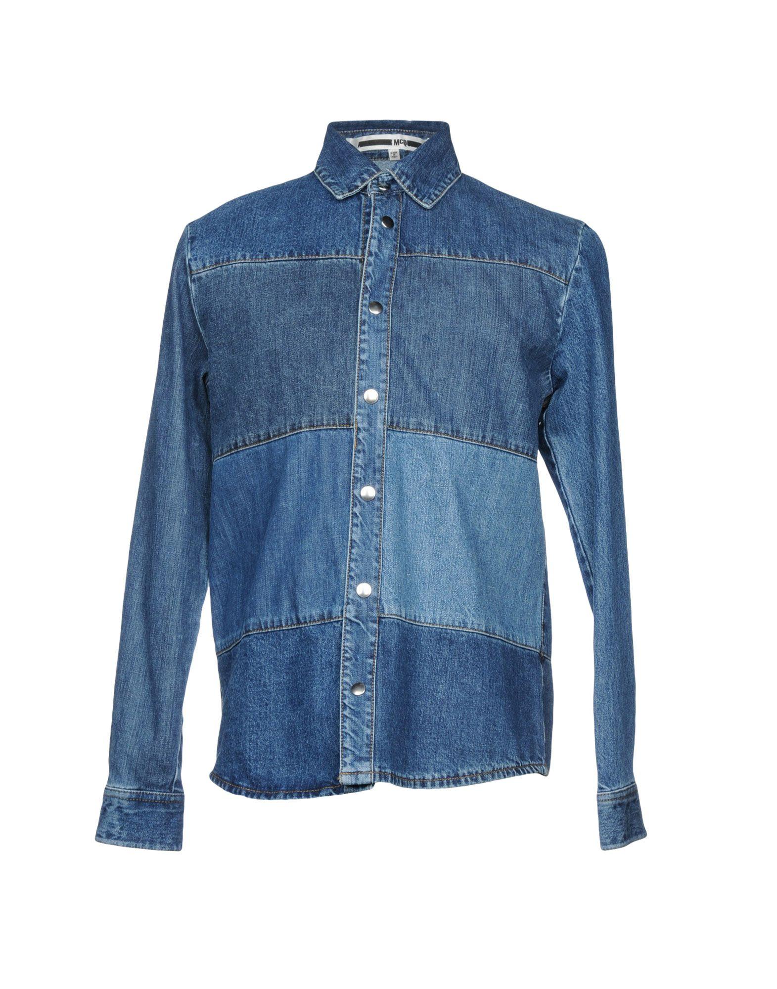 McQ Alexander McQueen Джинсовая рубашка mcq alexander mcqueen рубашка с длинными рукавами