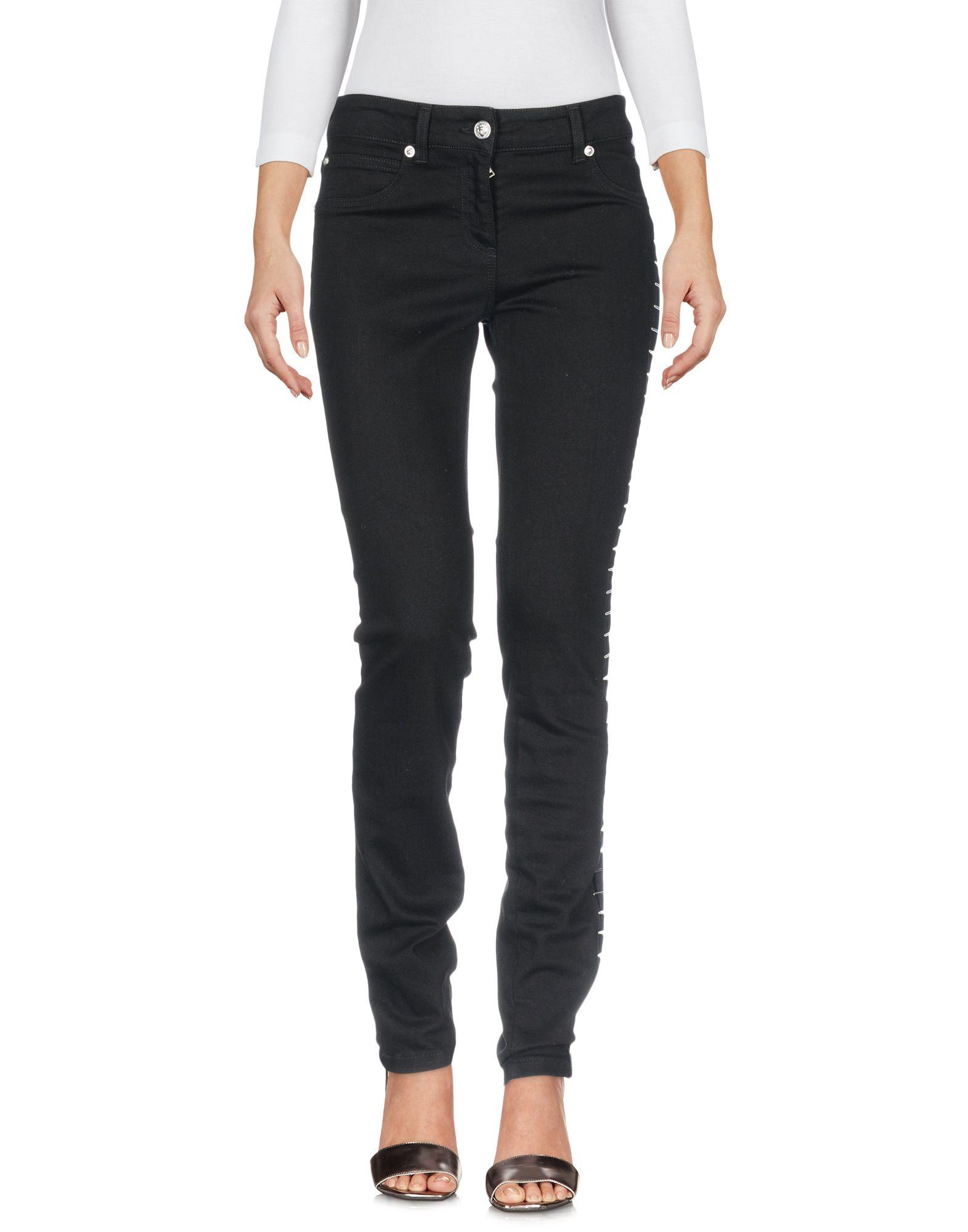 VERSUS VERSACE Damen Jeanshose Farbe Schwarz Größe 5