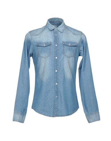 VICTOR COOL メンズ デニムシャツ ブルー L コットン 100%