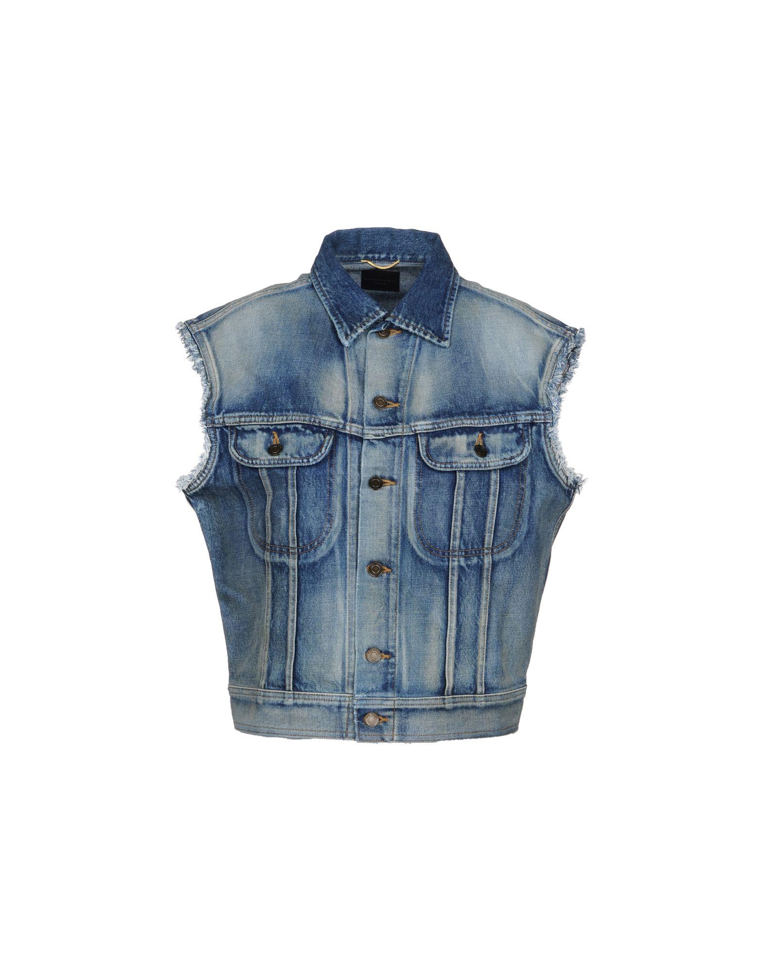 SAINT LAURENT Джинсовая верхняя одежда saint laurent джинсовая верхняя одежда