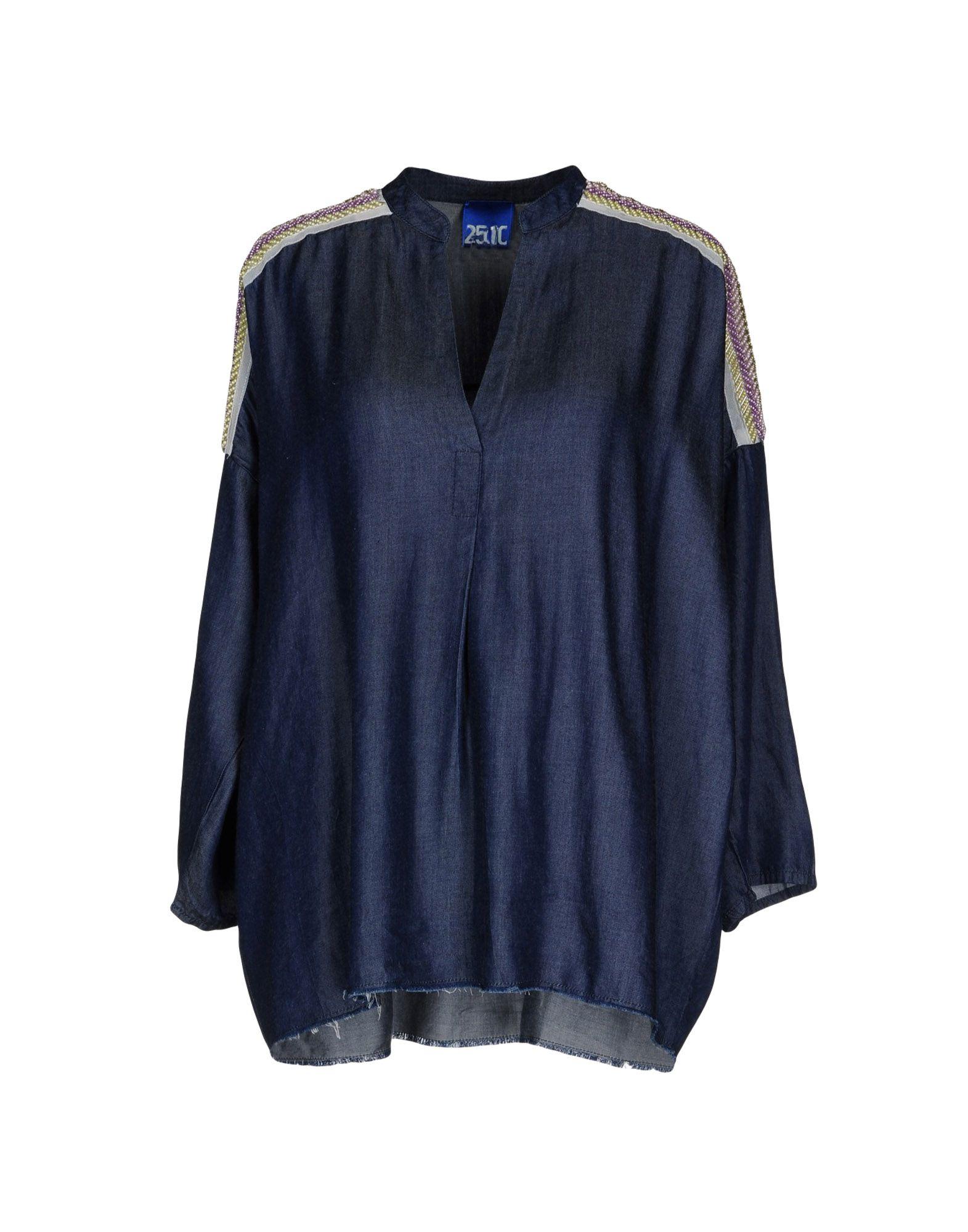 25.10 per MAURIZIO COLLECTION Джинсовая рубашка 25 10 per maurizio collection юбка до колена