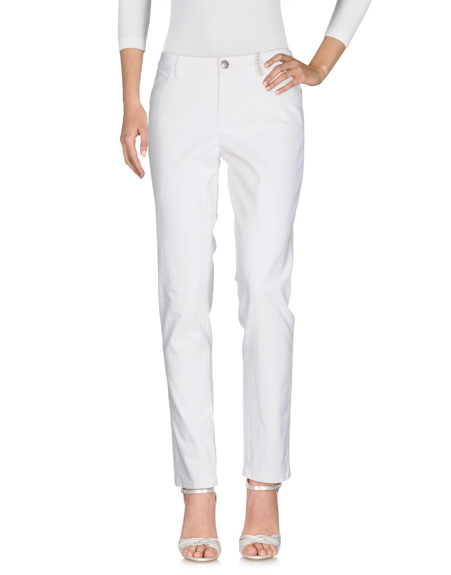 MARC CAIN Джинсовые брюки легкий сарафан на бретелях marc cain платья и сарафаны мини короткие