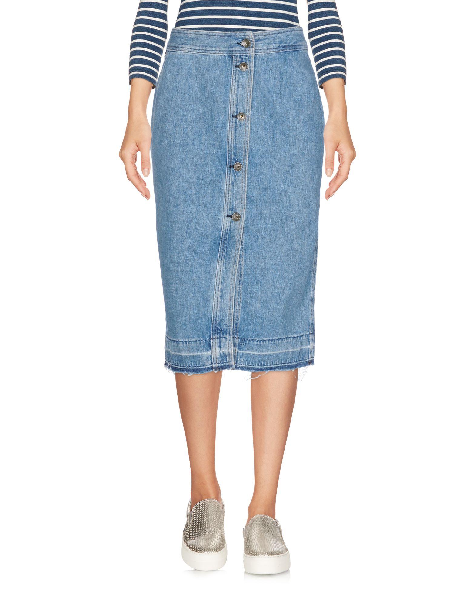 цена RAG & BONE/JEAN Джинсовая юбка онлайн в 2017 году